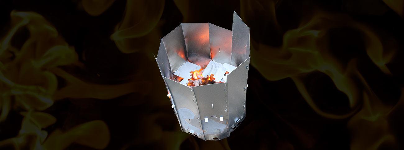 Stubbskorsten ta bort stubbar via att den eldas